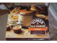 original tower slo-cooker compact. cooks trust it. 1-3 servings, electrical and economical