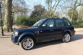 2011 (60) Land Rover Range Rover Sport 3.0 SD V6 HSE 4X4 5dr: Blue with Beige Leather & Wood Trim