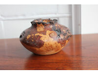Beautiful Hand Turned Carved Tree Growth Burr / Burl Pot / Bowl Silver Birch Vase Home Decor