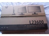 2, 24 inch monitors 1080p for sale can be sold separate with built in speakers