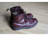 Dr. Martens Cherry Red boots, UK size 10