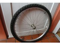 """Mountain Bike Alloy Front Wheel & Tyre 26"""" Quick Release Shimano Hub Can Deliver If Local"""