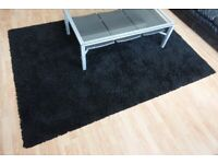 IKEA HAMPEN Black Rug - 301.468.12 - 260cm x 130cm