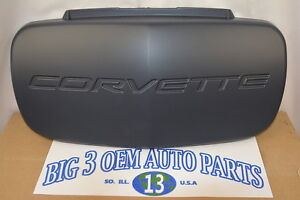 Chevrolet-Corvette-Front-Bumper-License-Plate-delete-COVER-new-OEM-10288540