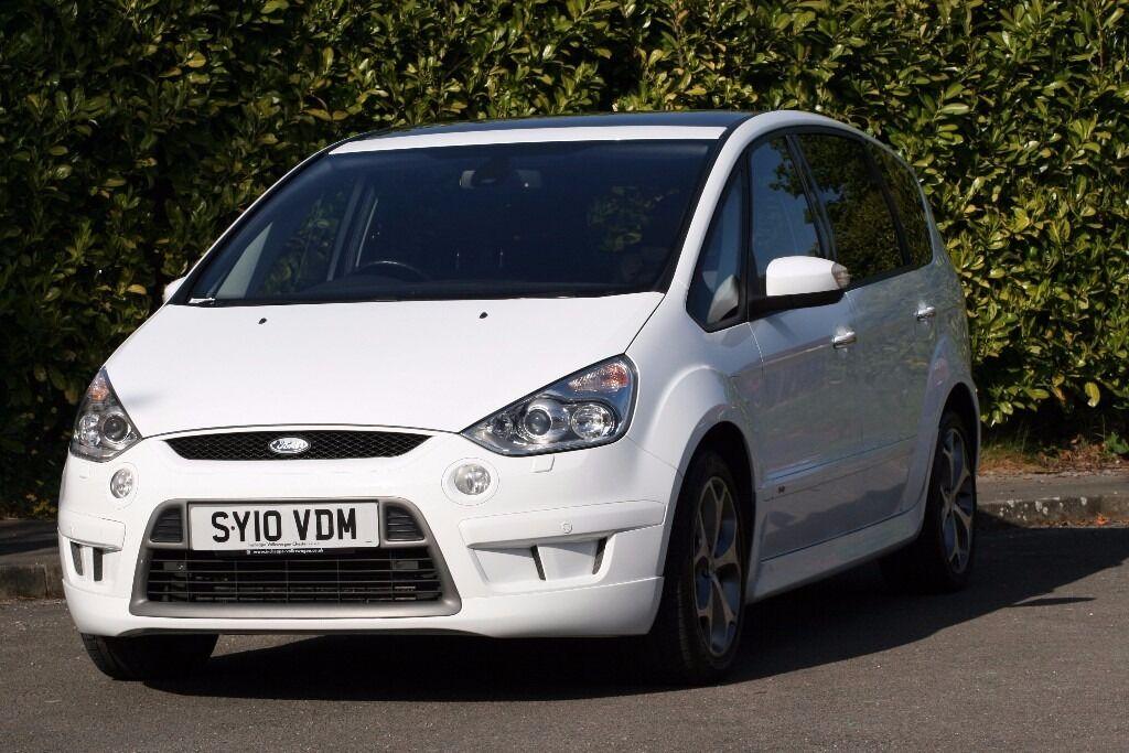 2010 ford s-max titanium 2.2tdci 173 white,1owner,fsh,low miles,pan