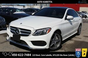 2015 MERCEDES C300 4MATIC SPORT AMG/NAVI/CAMERA/TOIT PANORAMIC C