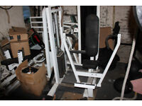 Chest press with 200lb weight stack
