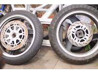 Kawasaki Motorcycle Wheel 70 ONO for both.