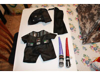 Build a Bear - Darth Vader Outfit plus Accessories Bundle