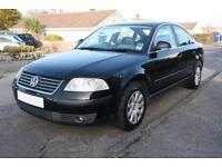 2005 (05) Volkswagen Passat 1.9 TDI Trendline 130 BHP Black FSH