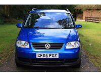 Volkswagen Touran 1.9 TDI, 2004, 102000 miles, MOT due 20.07.17, 7 seats, new tyres, service history