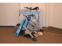 Tacx Blue matic Folding Magnetic Turbo Trainer, 700c x 23 Trainer Tyre, Tacx Tablet Handlebar Mount.