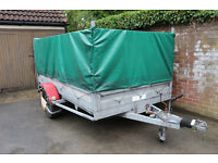 Trailer , Indespension with Cage and Cover 10ft x 5ft