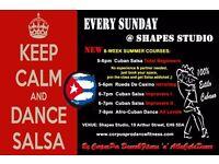 100% CUBAN SALSA - NEW SUMMER COURSES for Total Beginners, Improvers, Rueda & Afro-Cuban Dance