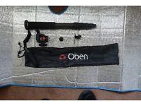 Oben CTM-2500 5-Section Pro CARBON FIBER & OBEN VH-R2 Swivel/Tilt Monopod Head