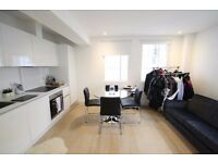Large studio apartment, converted warehouse, on canal, walk to Westferry DLR, concierge, furnished