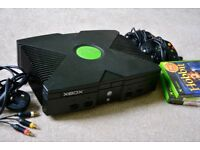 Item picture Microsoft Xbox Original Console + 2 controllers + 4 games