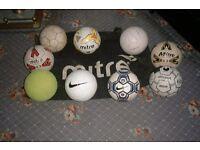 footballs size 5 plus bag