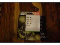 4 pack of hp 364 printer ink cartridges.