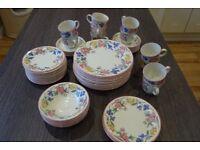 'Chelsea' Staffordshire Tableware dinner set, microwave/dishwasher/freezer safe