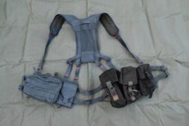 Custom Military Molle Webbing Set, GRADE2 Condition (painted/dyed)