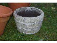 terracotta pottery porcelain plant pot barrel style planter cb1 £8