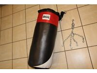 Brand new Lonsdale boxing / martial arts / MMA punchbag / punch bag with rotating hanging chains