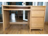 Oak Computer Work Desk for Home of Office or Student