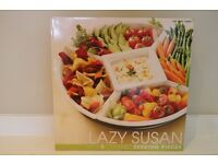 Lazy Susan with 5 Ceramic serving plates