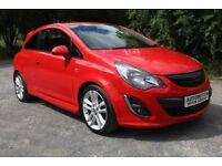 2014 Red Vauxhall Corsa 1.4 i 16v SRi 3dr (a/c) Finance Arranged No Deposit £5495