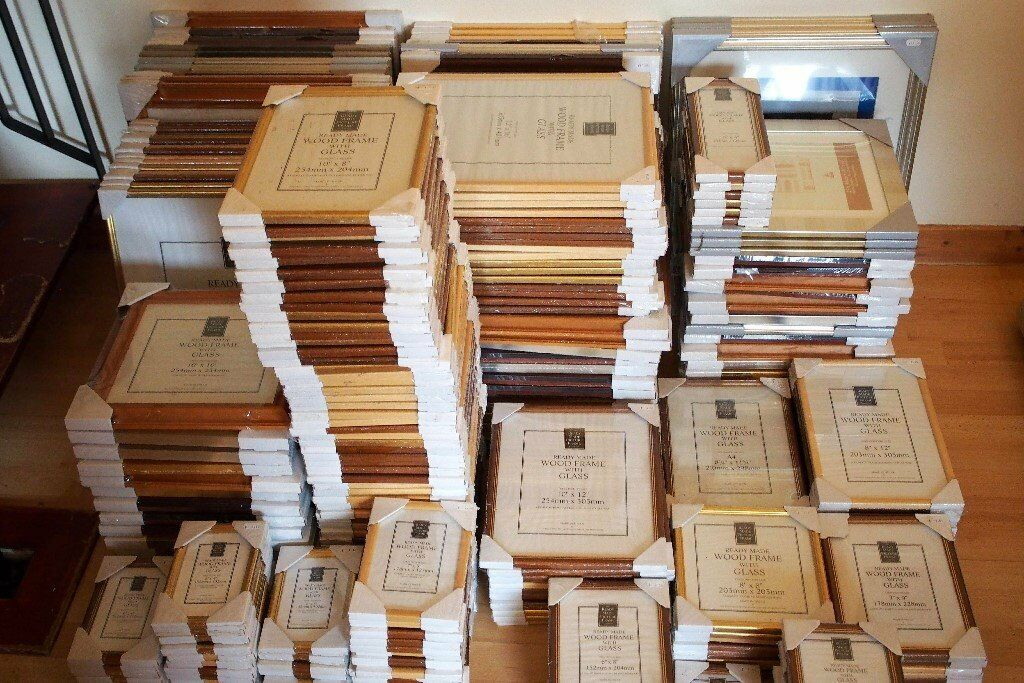 FOR SALE - PICTURE FRAMES - A SELECTION OF 275+ QUALITY WOODEN FRAMES - MANUFACTURED IN THE UK