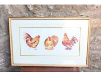 Large Well Framed Limited Edition Print - Chicken Run by Annabel Fairfax Picture Art Present