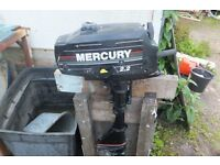 mercury 2.2 hp outboard full working order