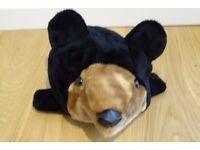 Fabulous Brown Bear Head Fleece Ski Hat........For Him??!!.....or Her??!!
