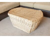 Large wicker basket linen box