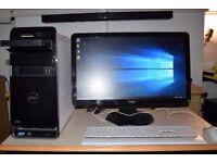 Dell Studio Full Desktop PC, i5 Quad Core CPU, 7GB Ram, 64GB SSD+1TB HDD, WiFi, HD Graphics, Win 10