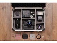 Cosina Analogue Camera Kit with 3 Lenses and Case