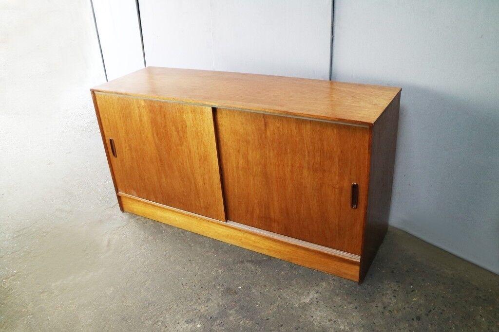 La Credenza In English : 1970s mid century english long 148cm width credenza storage