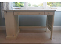 Wooden Shabby Chic Ivory Desk