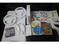 Nintendo Wii Console Mario Kart and Games Bundle
