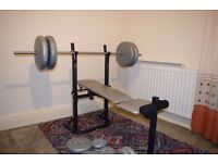 York Weights Bench and 80kg Weights