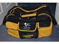 Sports bag yellow and black and hard wearing