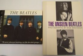 Two class 'Beatles' books - 'The Beatles - Quote Unquote' & 'The Unseen Beatles'.