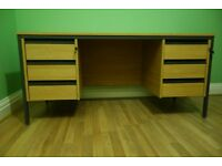Very sturdy 6 drawer office desk. Two identical desks are for sale, either together or individually.