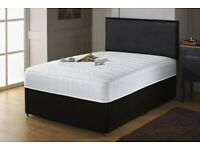 💖💖CASH ON COLLECTION💖💖 DOUBLE DIVAN BED BASE WITH DIFFERENT TYPES OF MATTRESSES