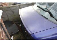 BMW E39 Velvet Blue saloon tailgate boot lid including lip spoiler (Breaking whole car)