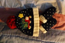 Christmas hat and gloves from NEXT
