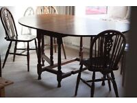 Beautiful Vintage Dining Table set that folds away