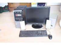 PC, Pack including mouse, keyboard and printer.