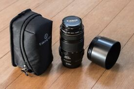Canon EF 70-300mm F/4-5.6 IS USM Lens + HOOD + UV Filter + Tamron POUCH --- Excellent Condition ---